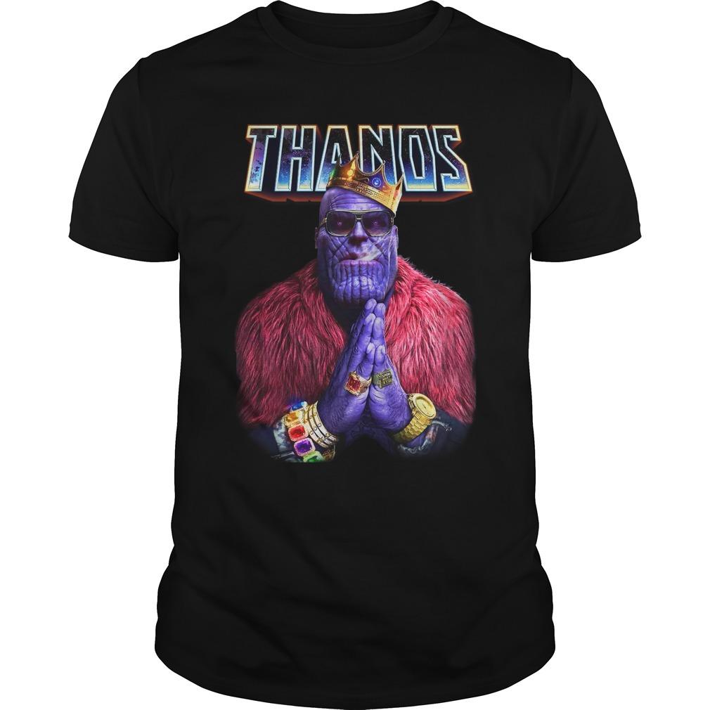 Avengers Infinity War Thanos king of golden Guys Shirt