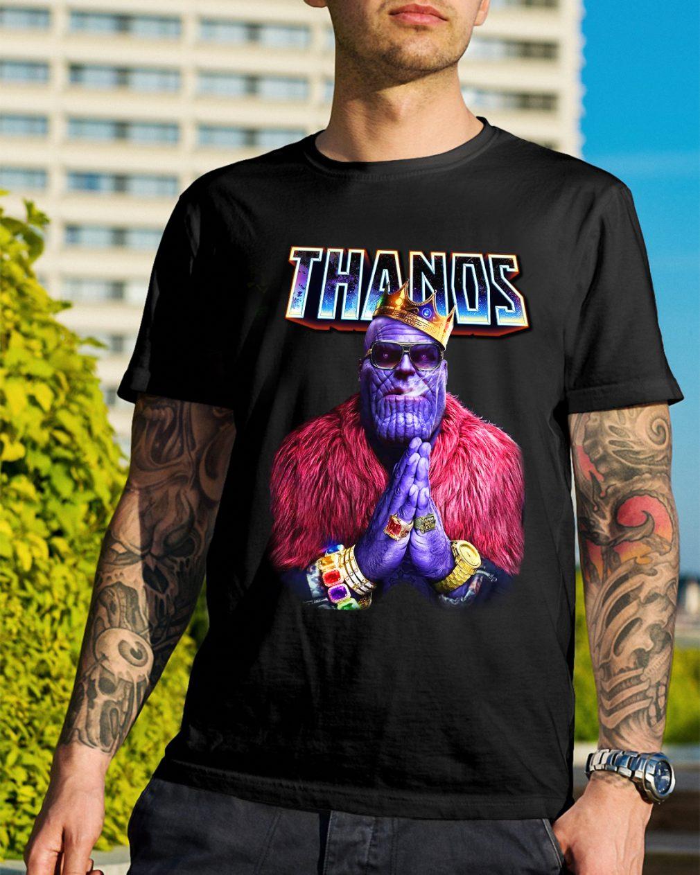 Avengers Infinity War Thanos king of golden shirt