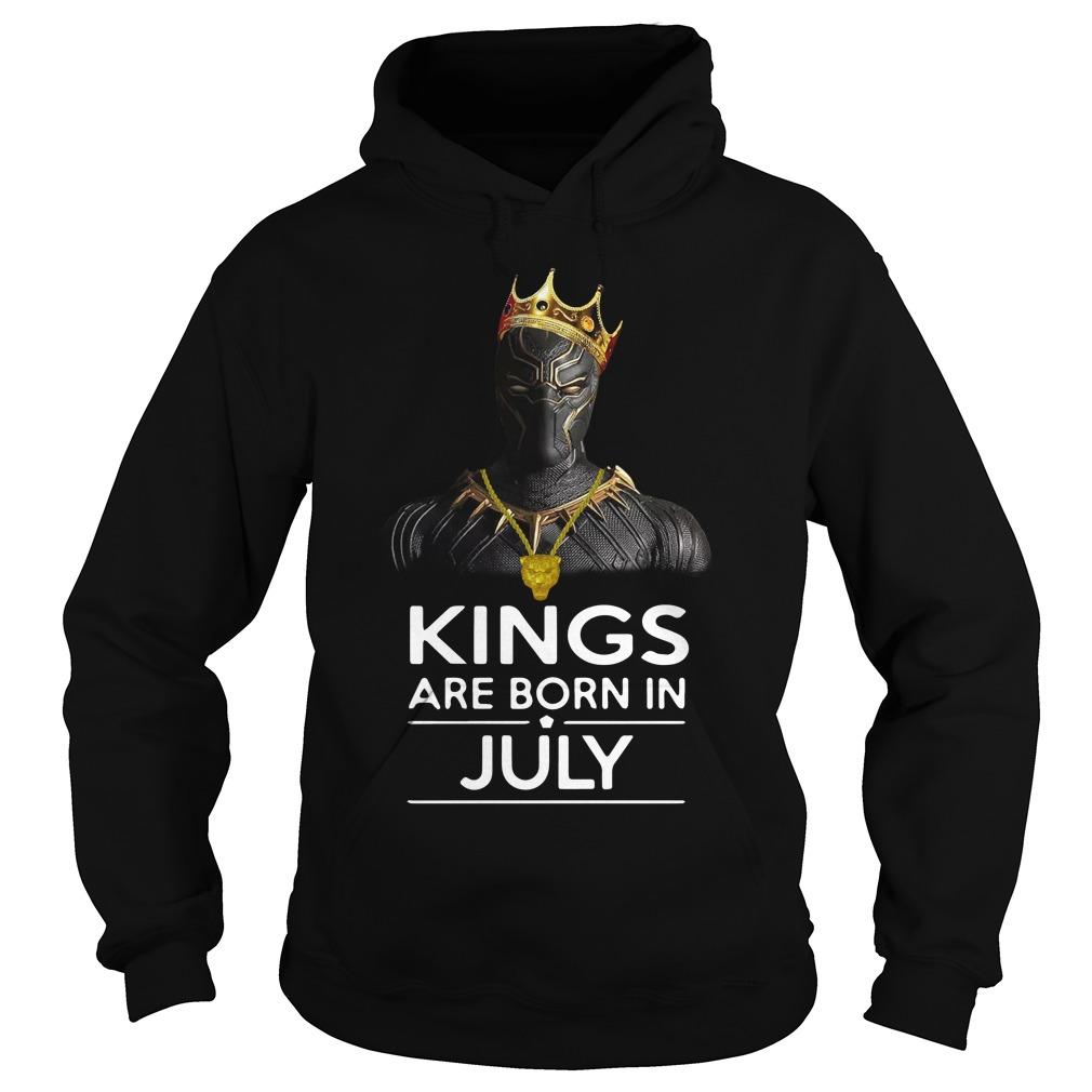 Black Panther Kings Born July Hoodie