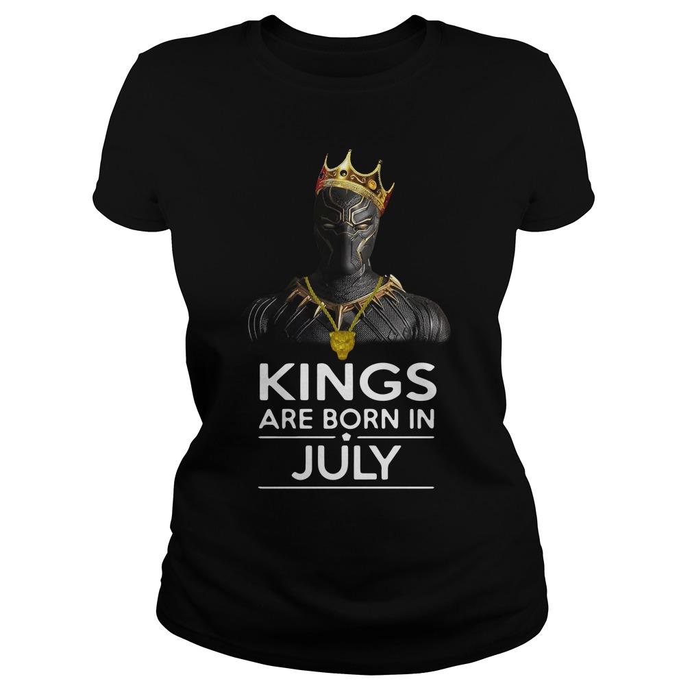 Black Panther Kings Born July Ladies Tee