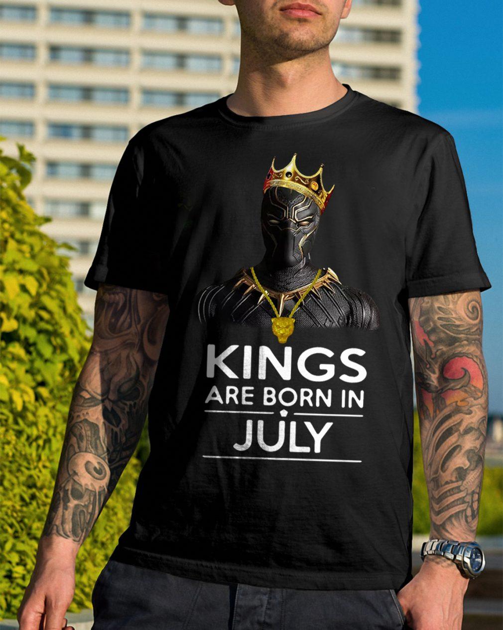 Black Panther Kings Born July Shirt