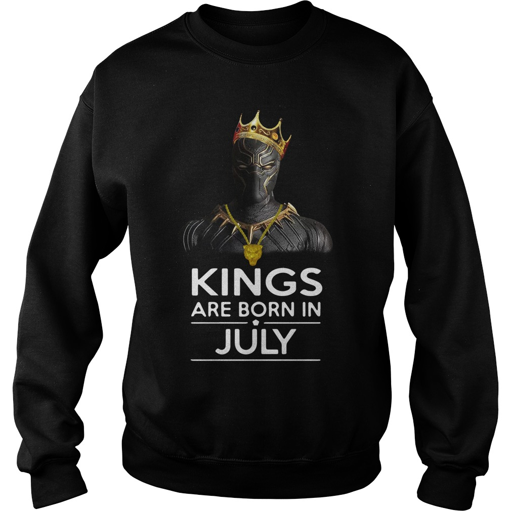 Black Panther Kings Born July Sweater