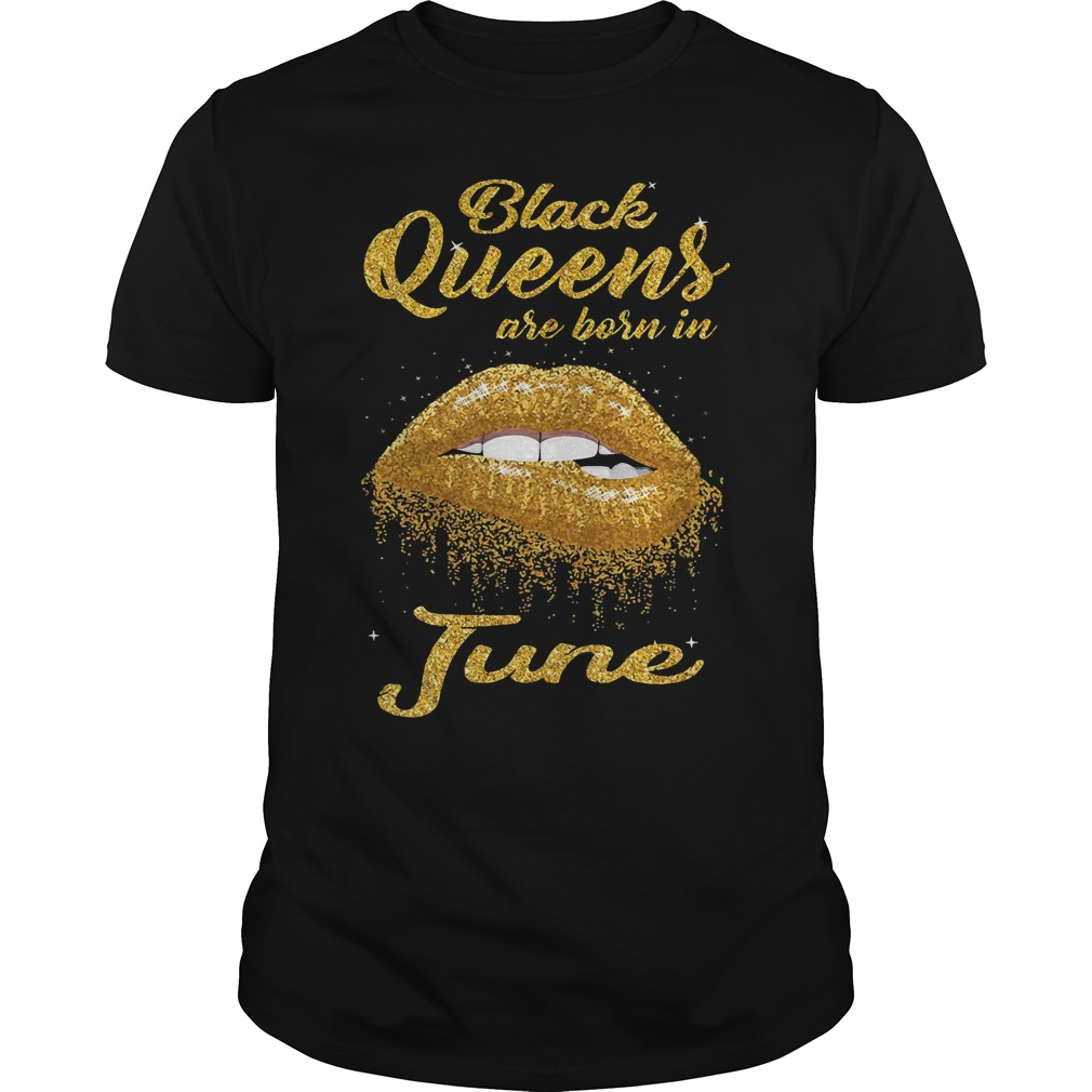 Black queens are born in June Guys Shirt