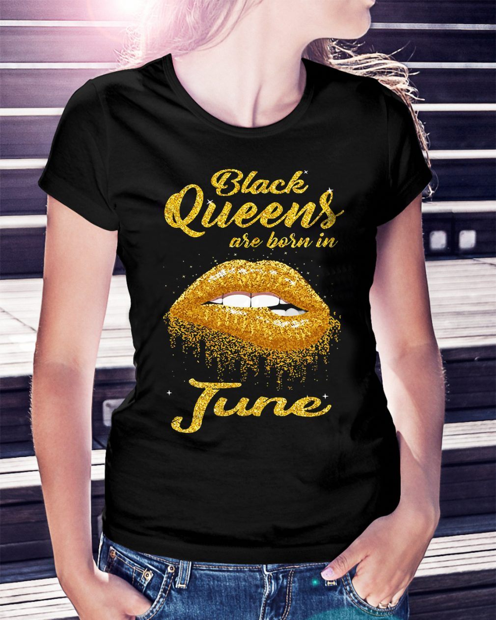 Black queens are born in June shirt