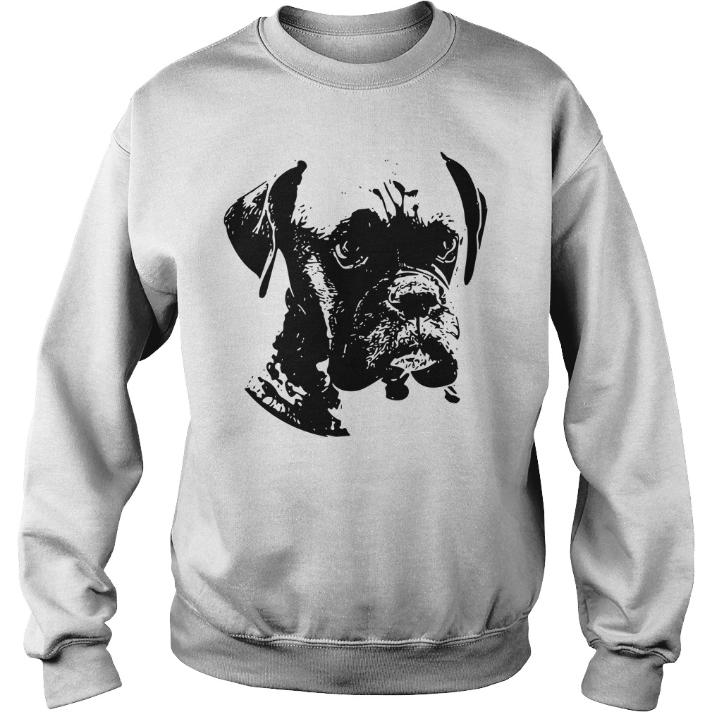 Boxer dog black and white Sweater