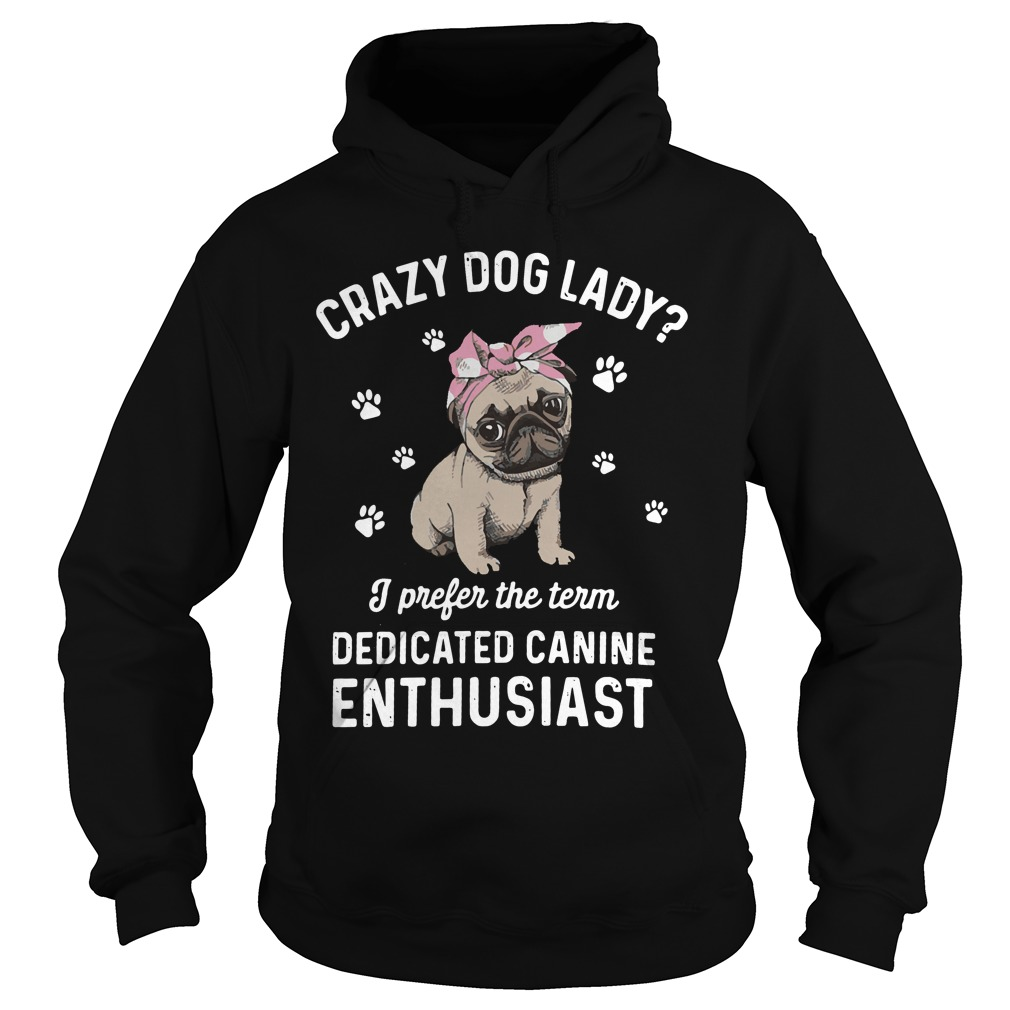 Bulldog Crazy Dog Lady Prefer Term Dedicated Canine Enthusiast Hoodie