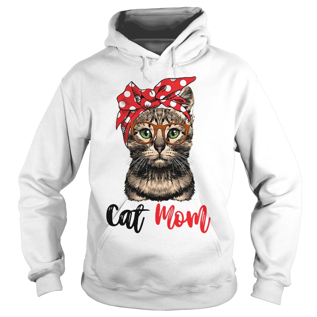 Cat Mom Cat Bow Head Scarf Hoodie