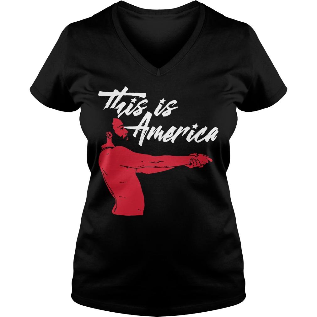 Childish Gambino this is America V-neck T-shirt