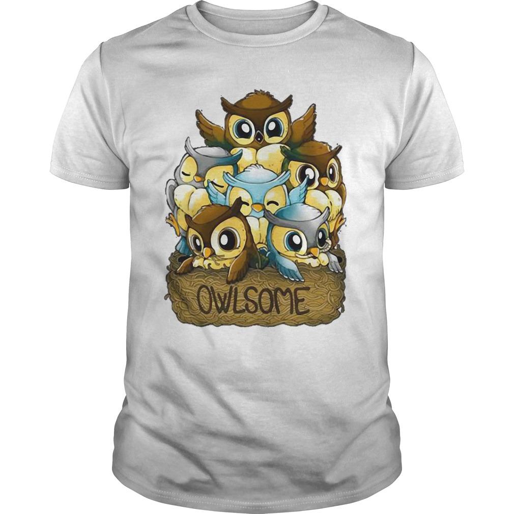Cute Owlsome Animal Guys Shirt