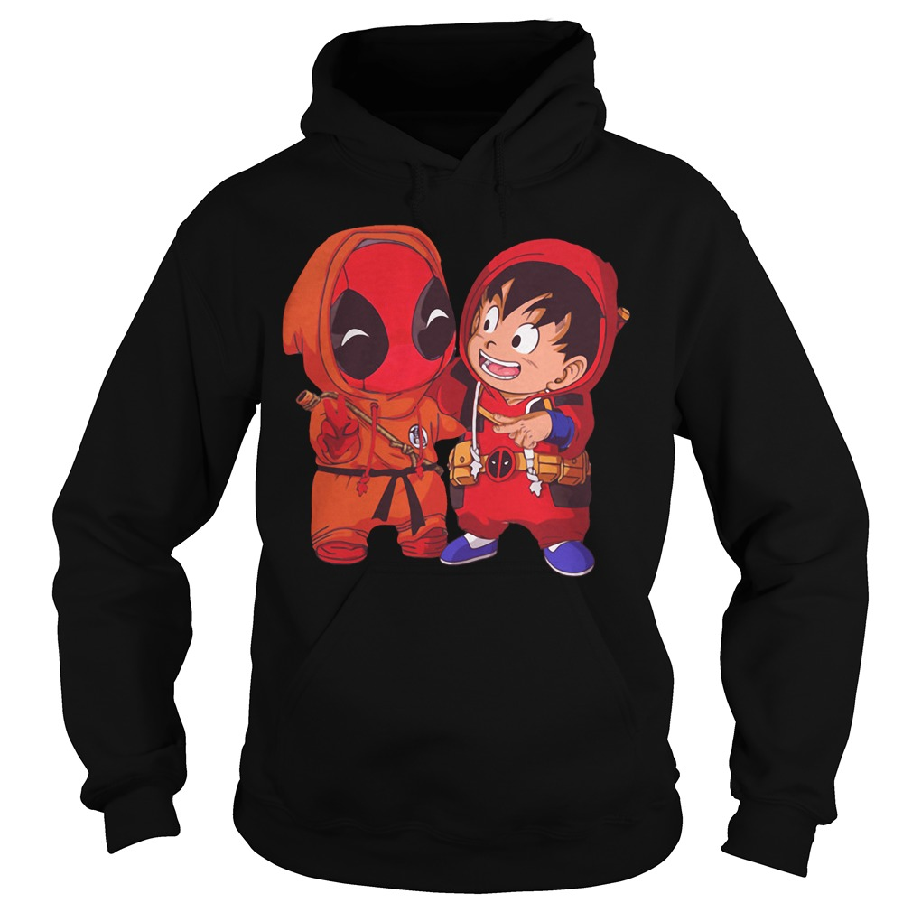Deadpool and Goku kid Hoodie