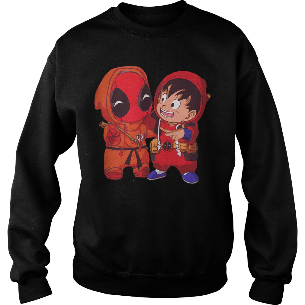 Deadpool and Goku kid Sweater