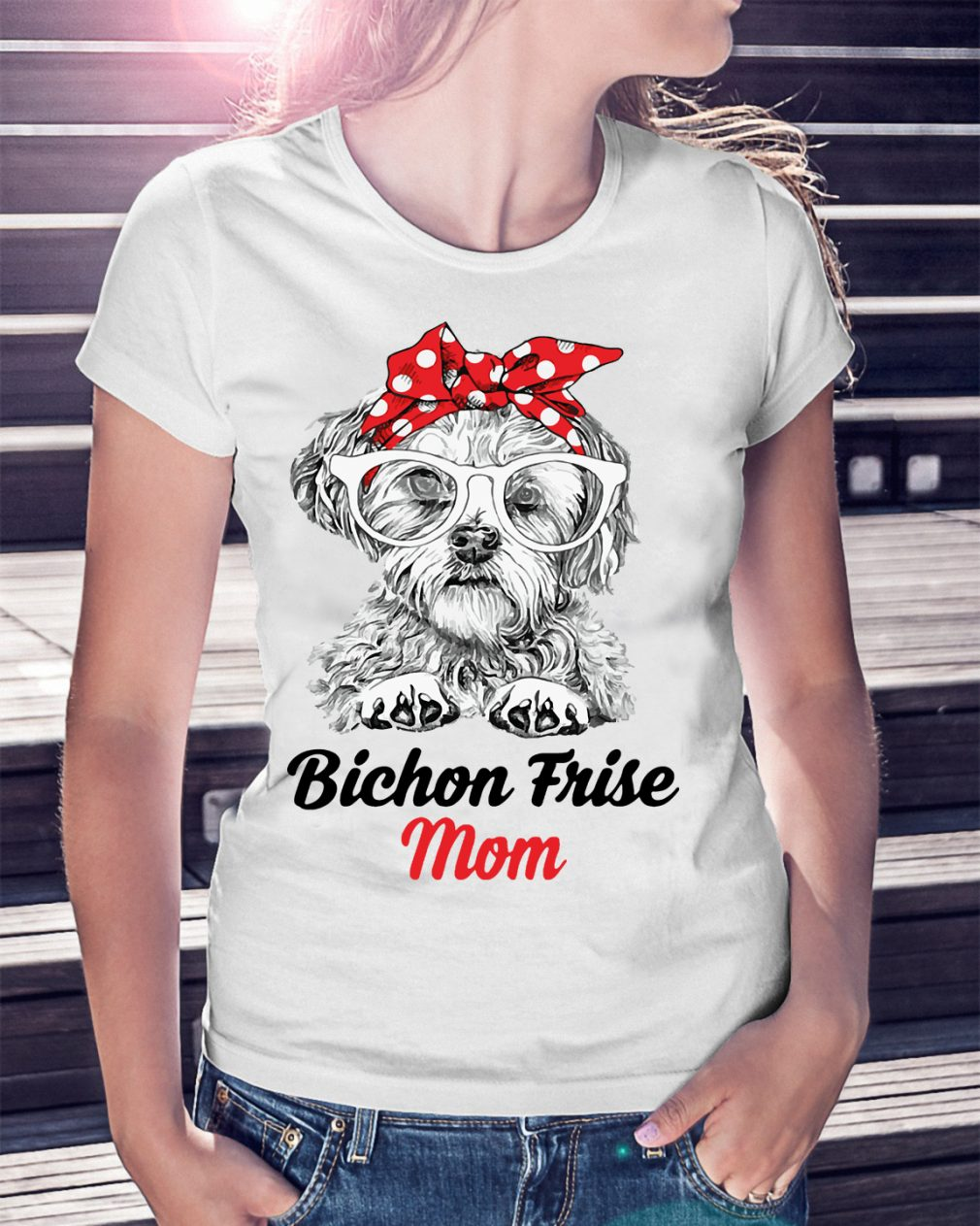 Dog Mom Bichon Frise Mom Shirt
