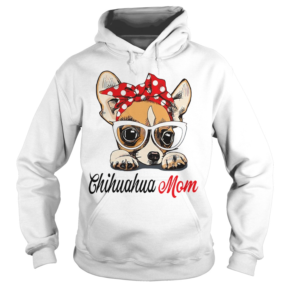 Dog Mom Chihuahua Mom Bow Head Scarf Hoodie