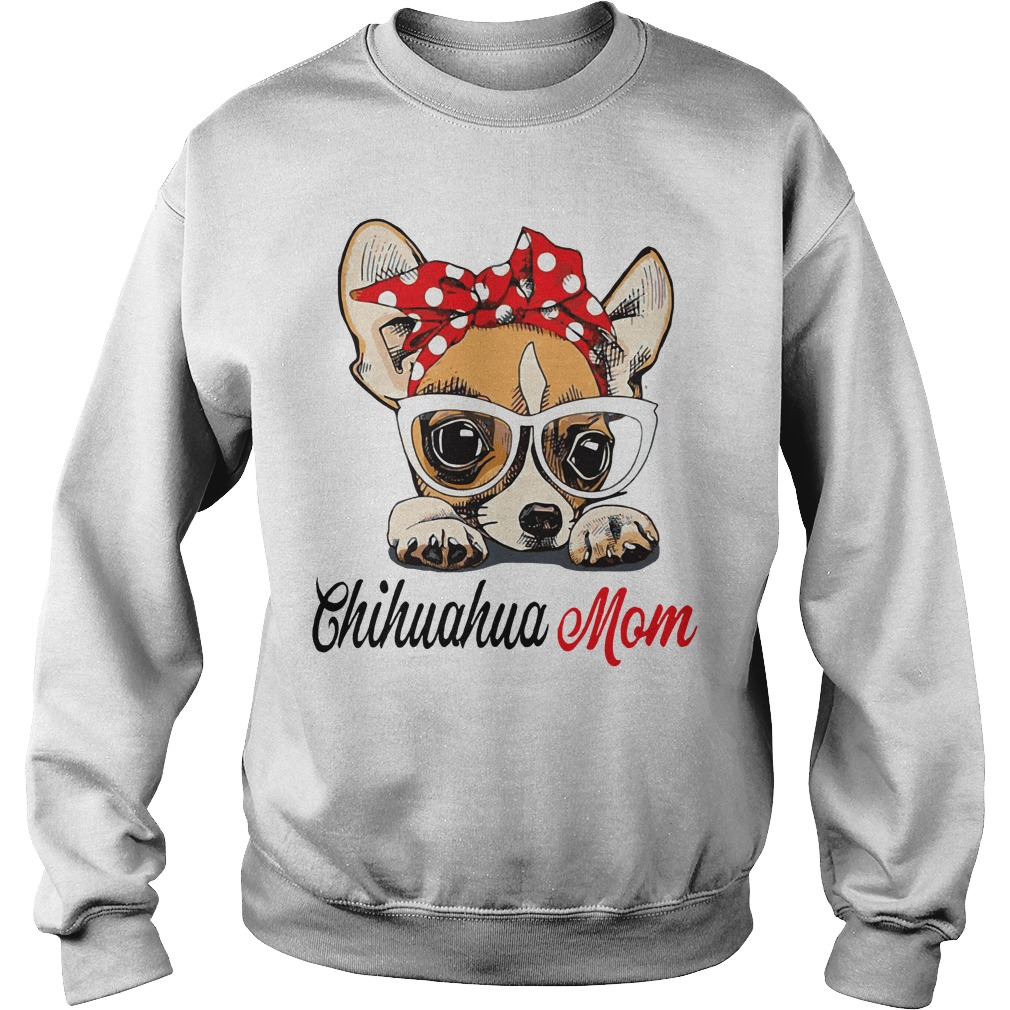 Dog Mom Chihuahua Mom Bow Head Scarf Sweater