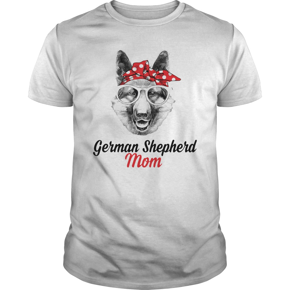 Dog Mom German Shepherd Mom Guys Shirt