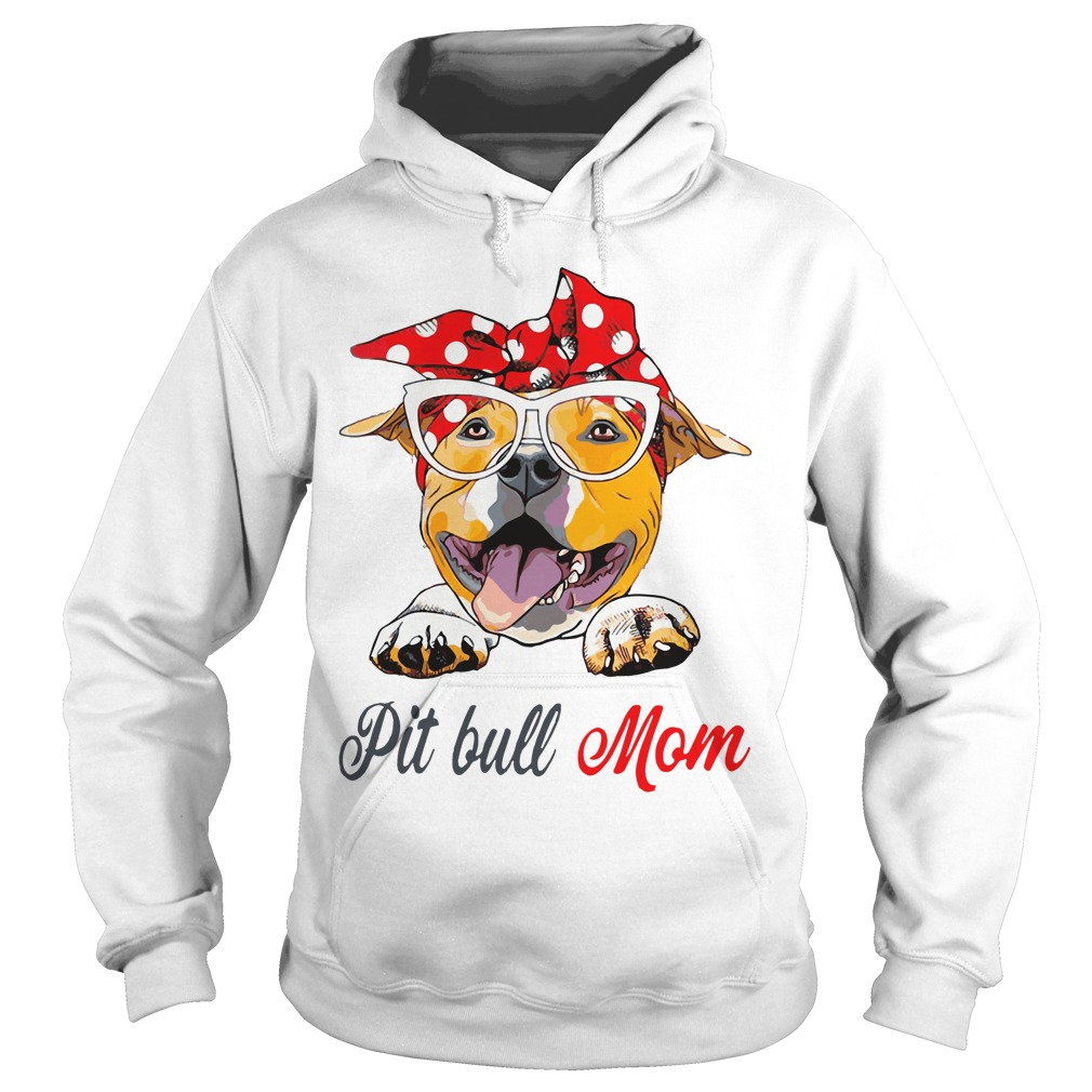 Dog Mom Pit Bull Mom Bow Head Scarf Hoodie
