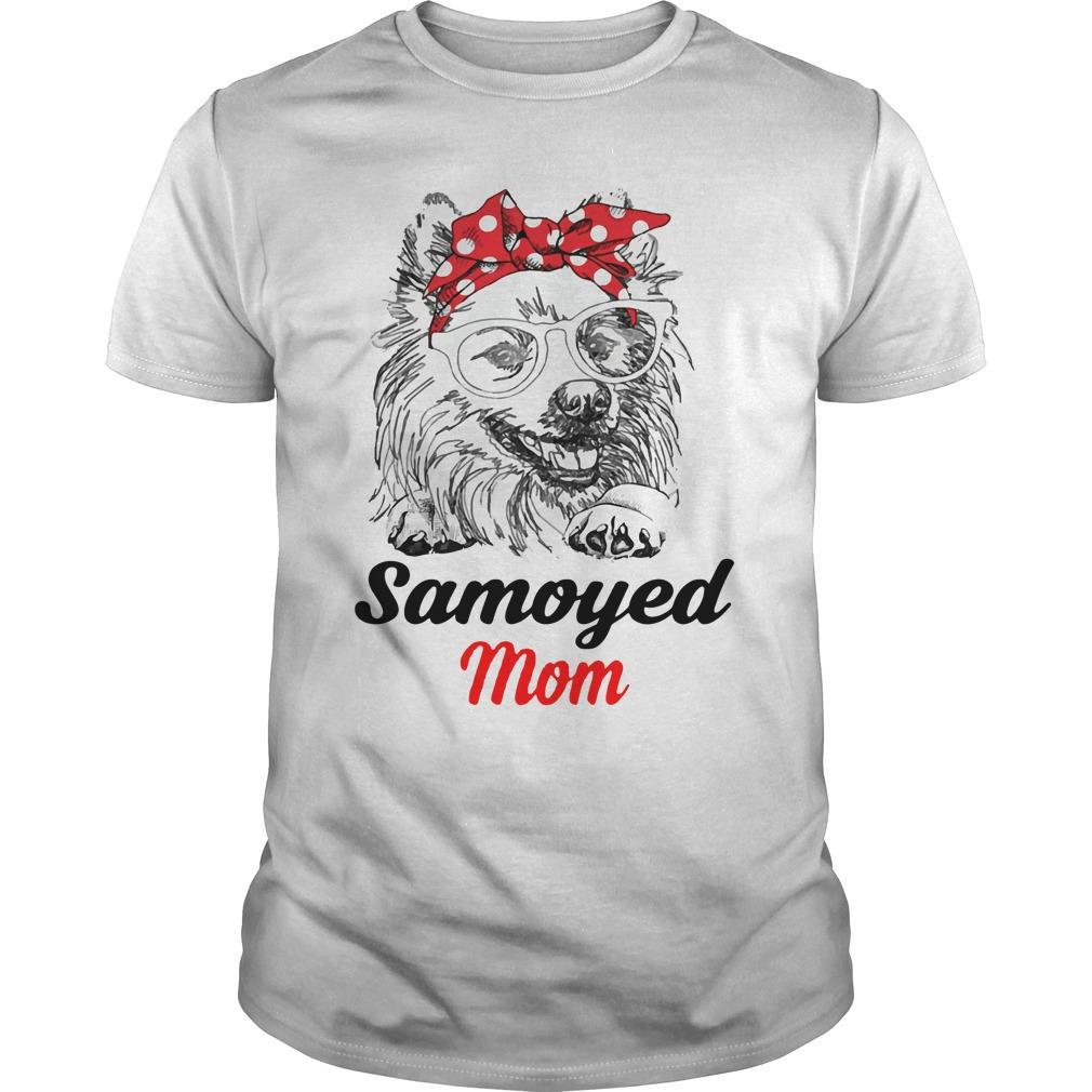 Dog Mom Samoyed Mom Guys Shirt