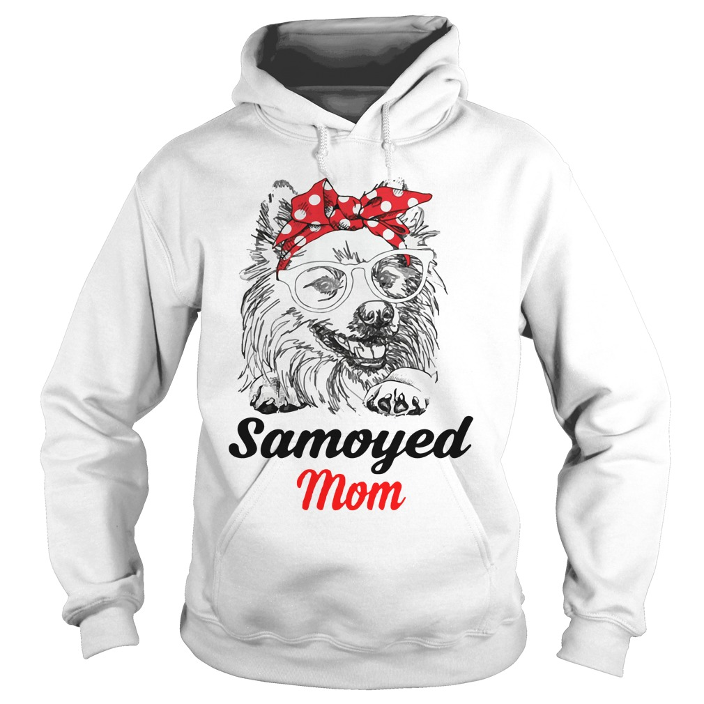 Dog Mom Samoyed Mom Hoodie