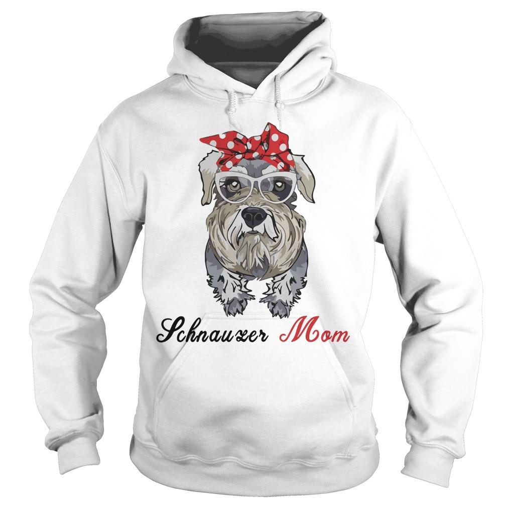 Dog Mom Schnauzer Mom Bow Head Scarf Hoodie