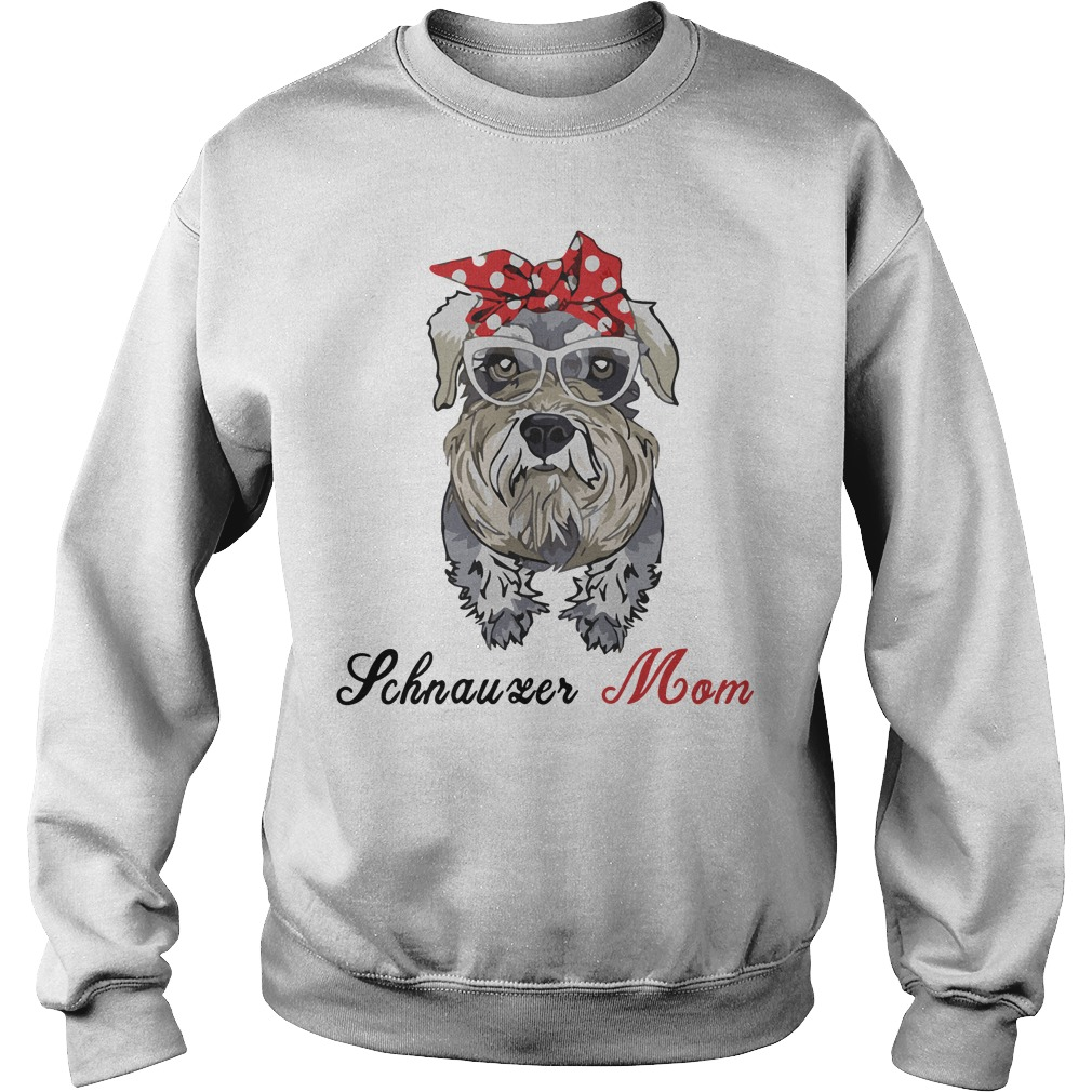 Dog Mom Schnauzer Mom Bow Head Scarf Sweater
