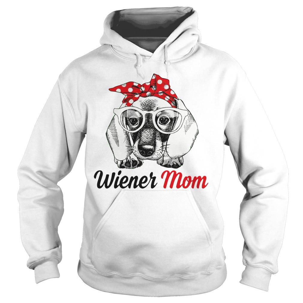 Dog Mom Wiener Mom Bow Head Scarf Hoodie