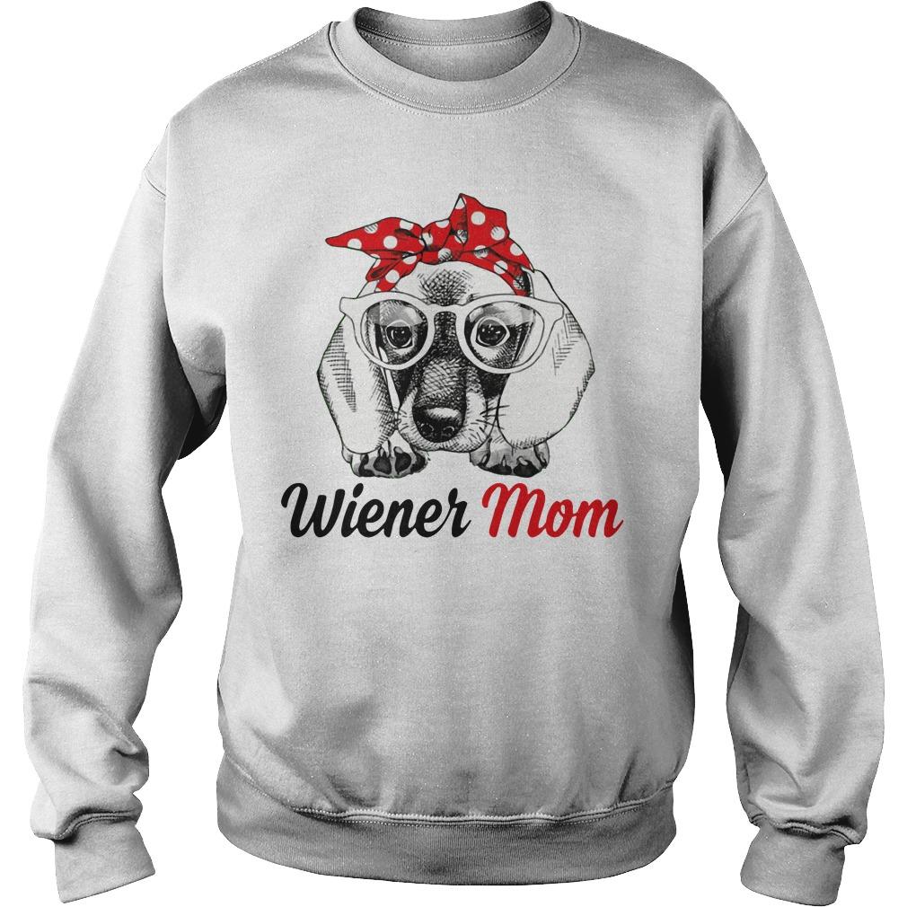 Dog Mom Wiener Mom Bow Head Scarf Sweater