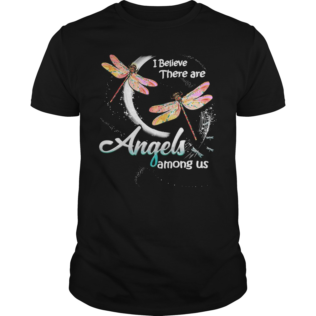 Dragonfly Believe Angels Among Us Guys Shirt