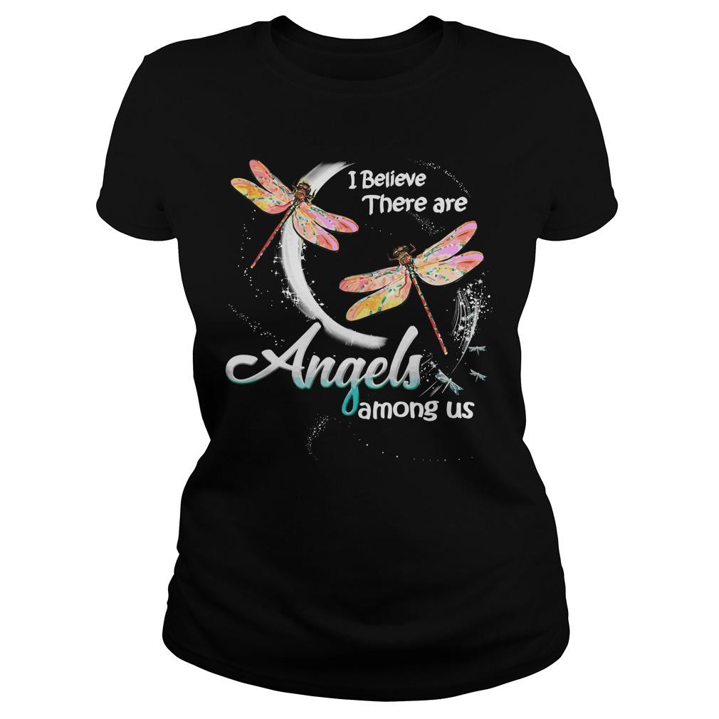 Dragonfly Believe Angels Among Us Ladies Tee