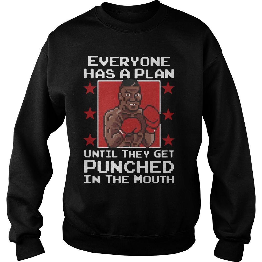 Everyone Plan Mike Tyson Get Punched Mouth Sweater