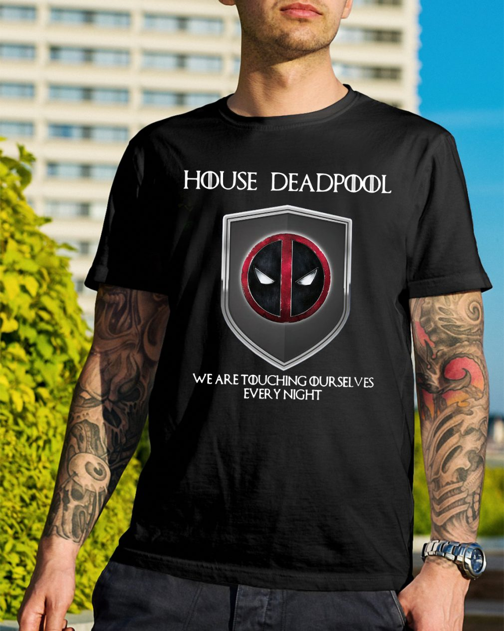 Game of Thrones House Deadpool we are touching ourselves shirt