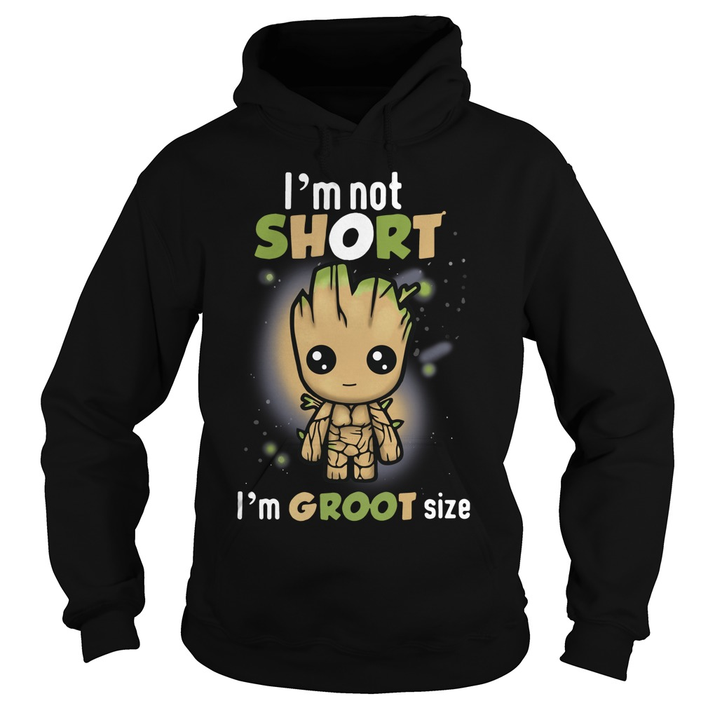 Groot: I'm not short I'm groot size Hoodie