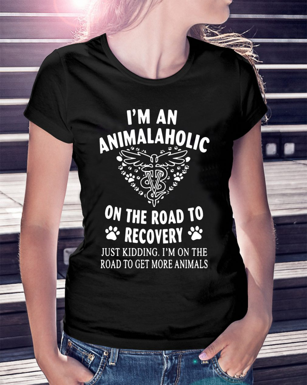 Im Animalaholic Road Recovery Just Kidding Shirt