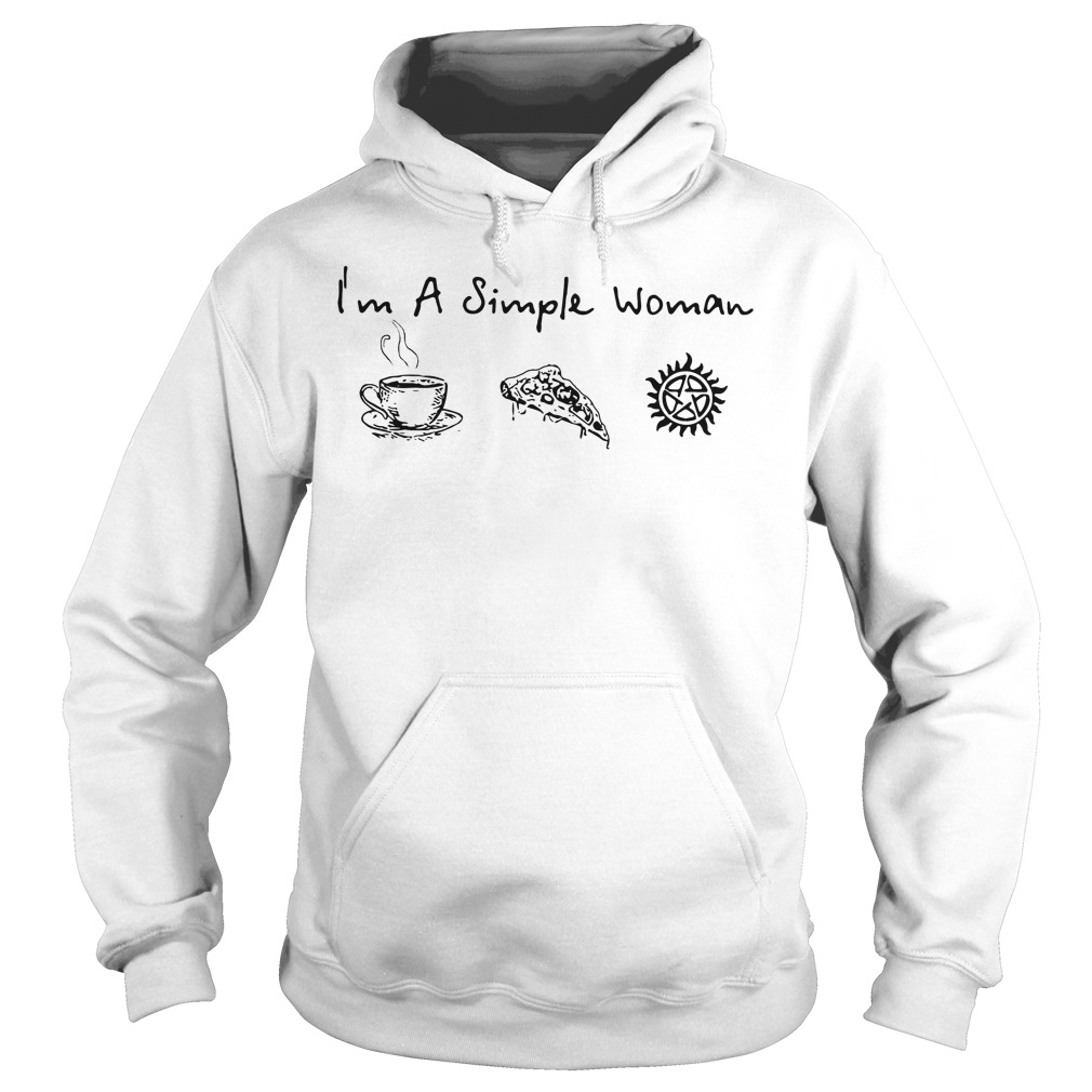 Im Simple Woman Like Coffee Pizza Anti Possession Hoodie