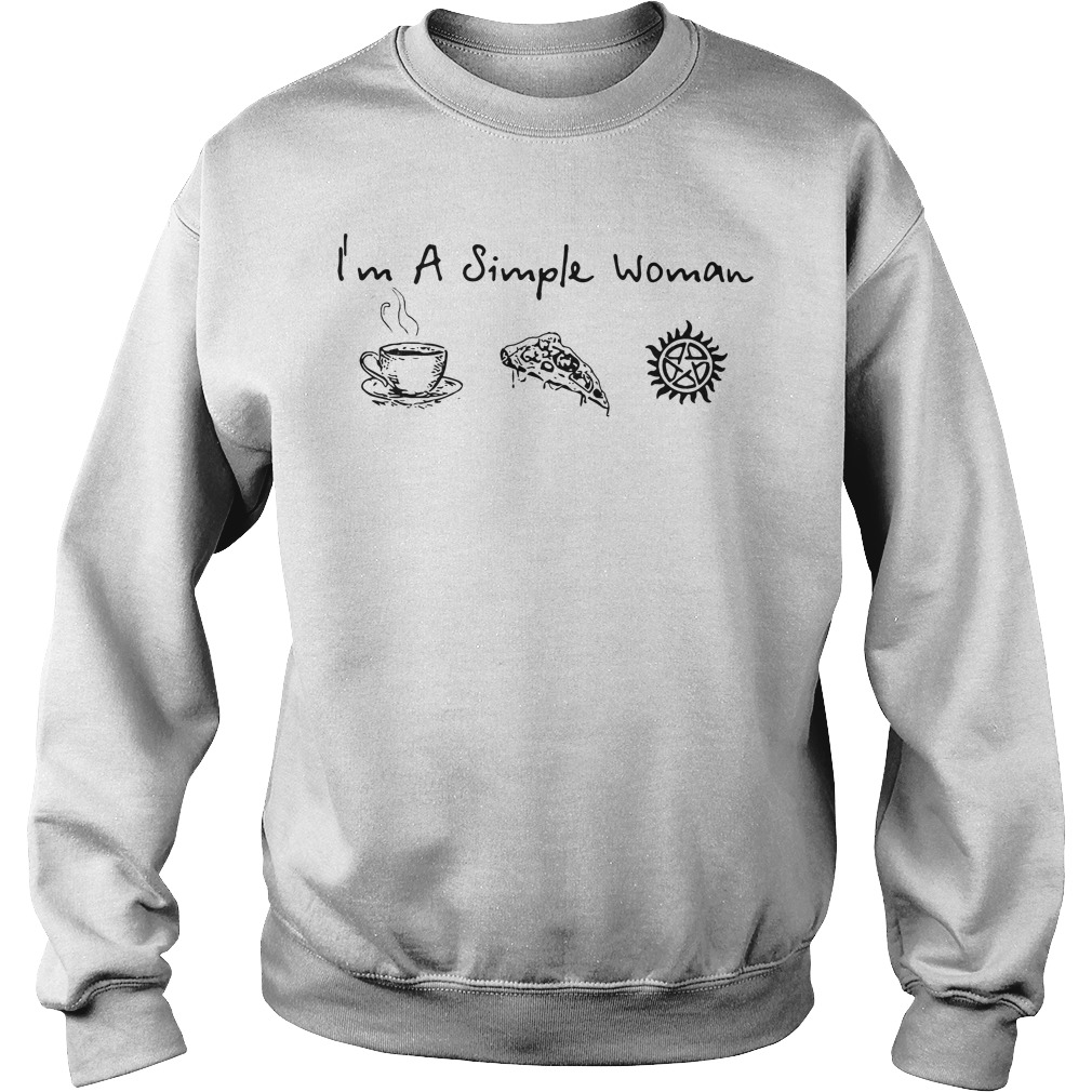 Im Simple Woman Like Coffee Pizza Anti Possession Sweater