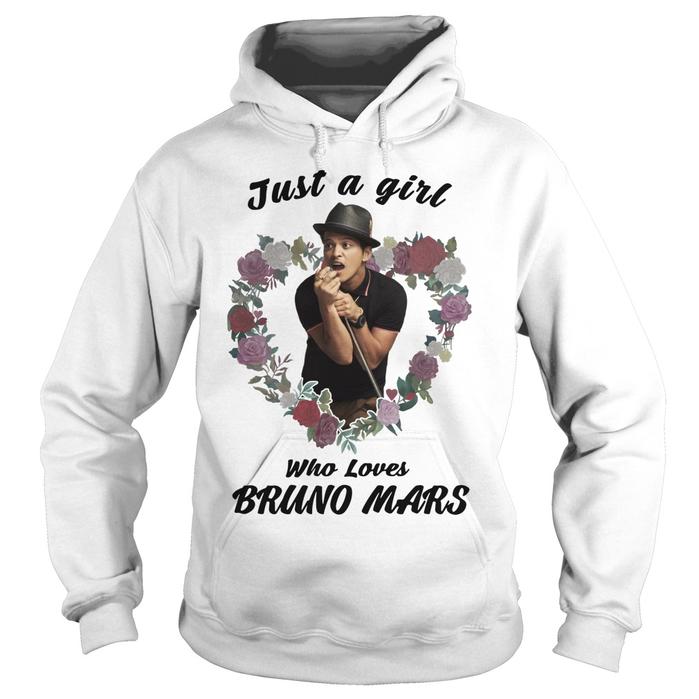 Just a girl who loves Bruno Mars Hoodie