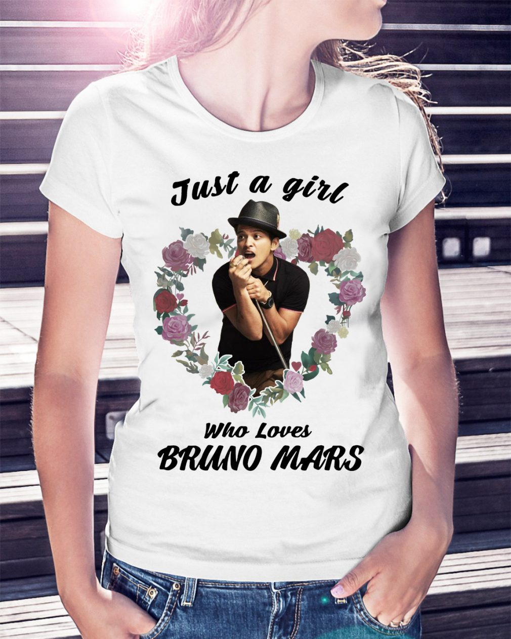 Just a girl who loves Bruno Mars shirt