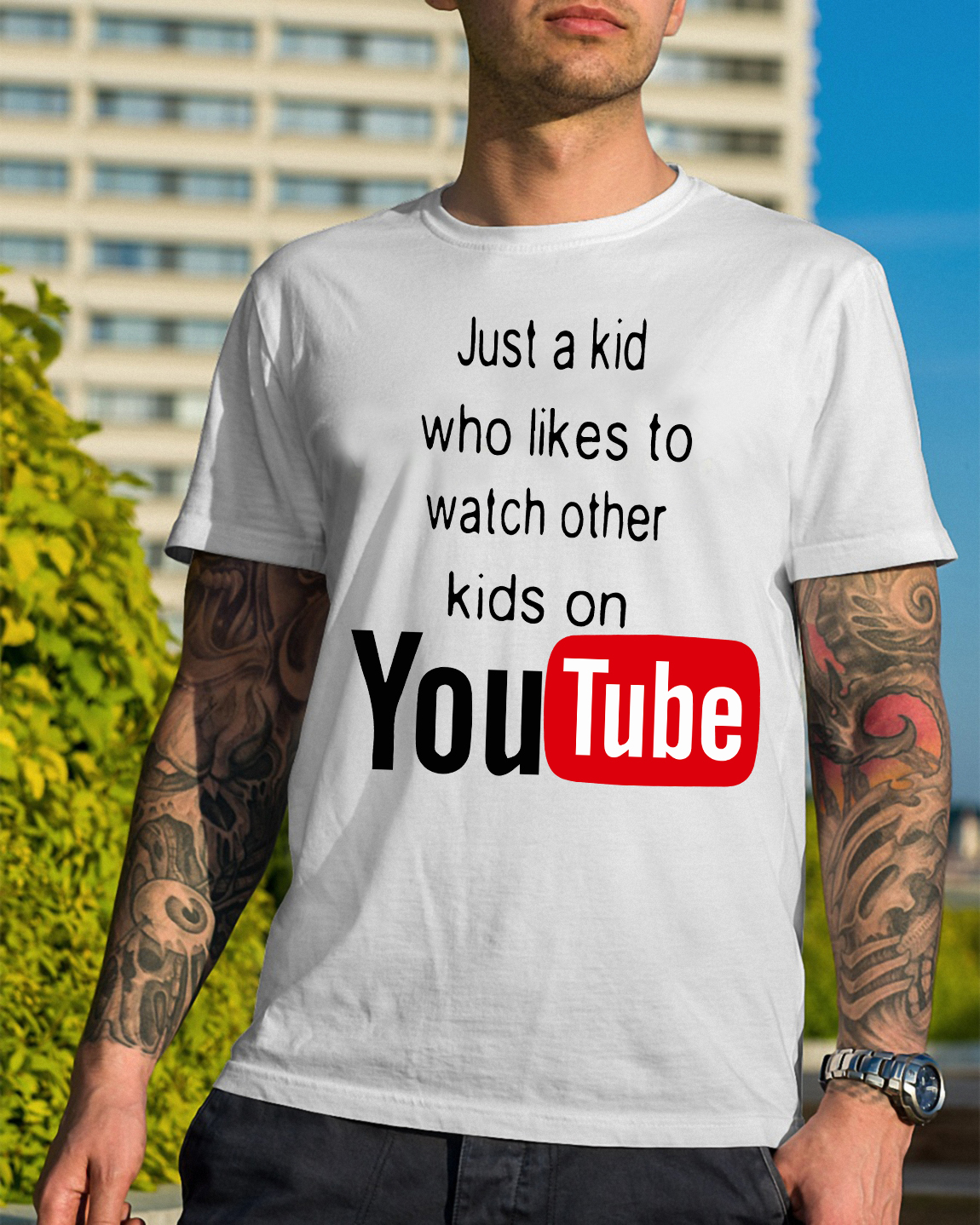 Just Kid Likes Watch Kids Youtube Guys Shirt