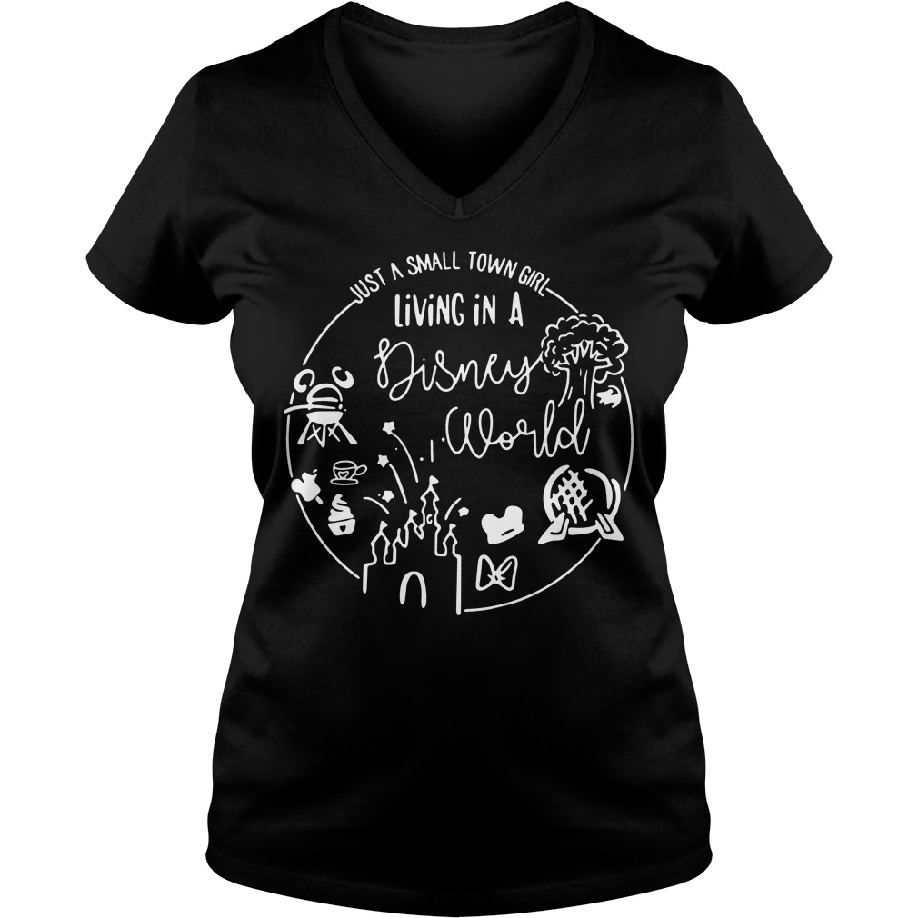 Just Small Town Girl Living Disney World Flowy V Neck T Shirt