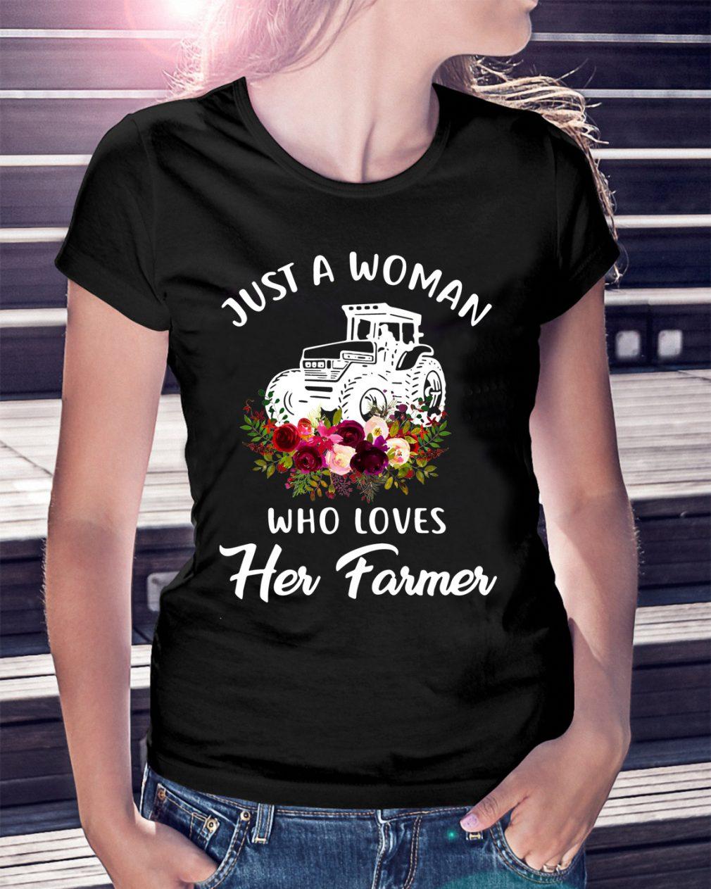 Just Woman Loves Farmer Shirt