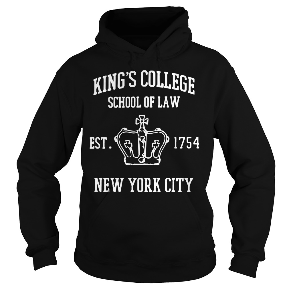 Kings College School Law Est 1754 New York City Hoodie