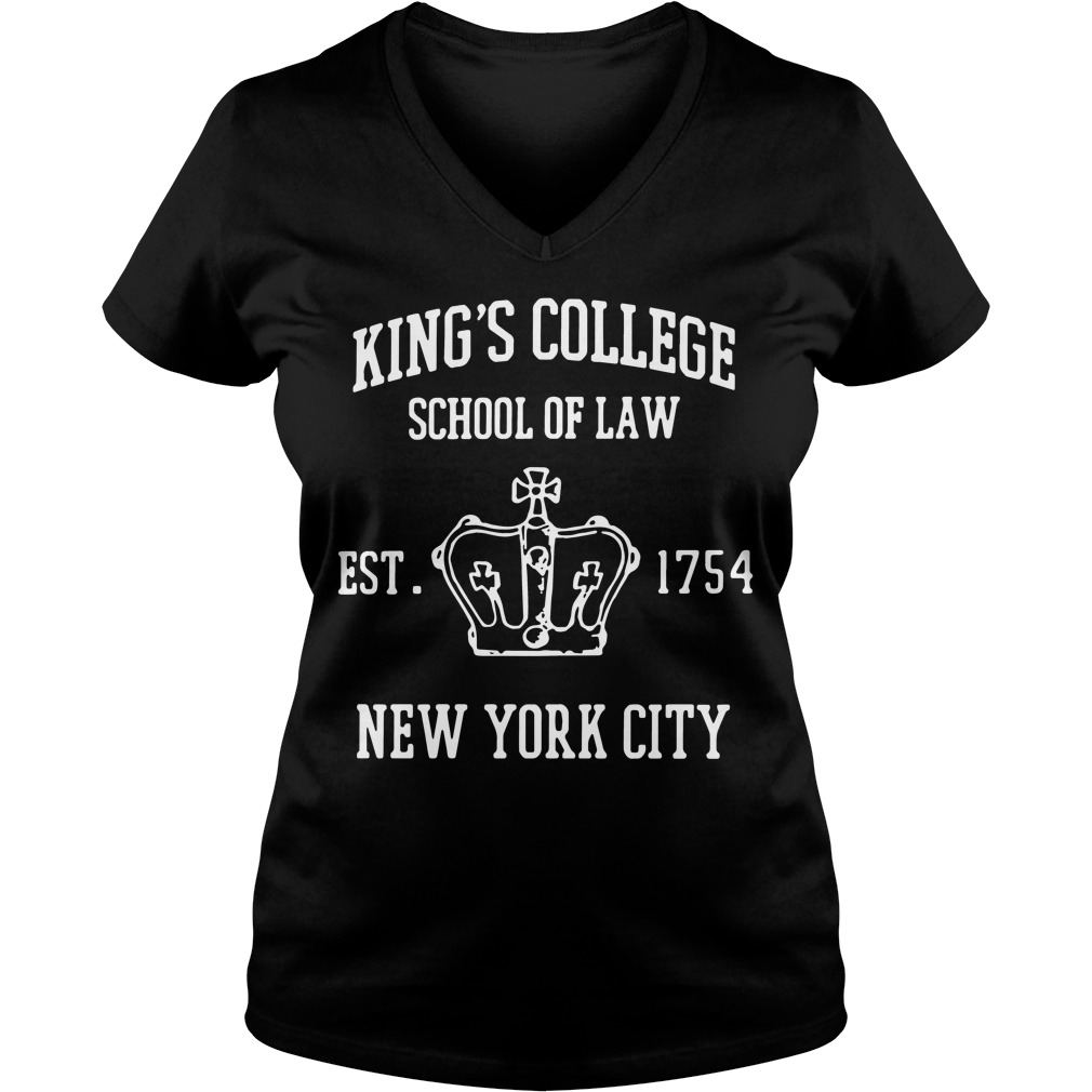 Kings College School Law Est 1754 New York City V Neck T Shirt