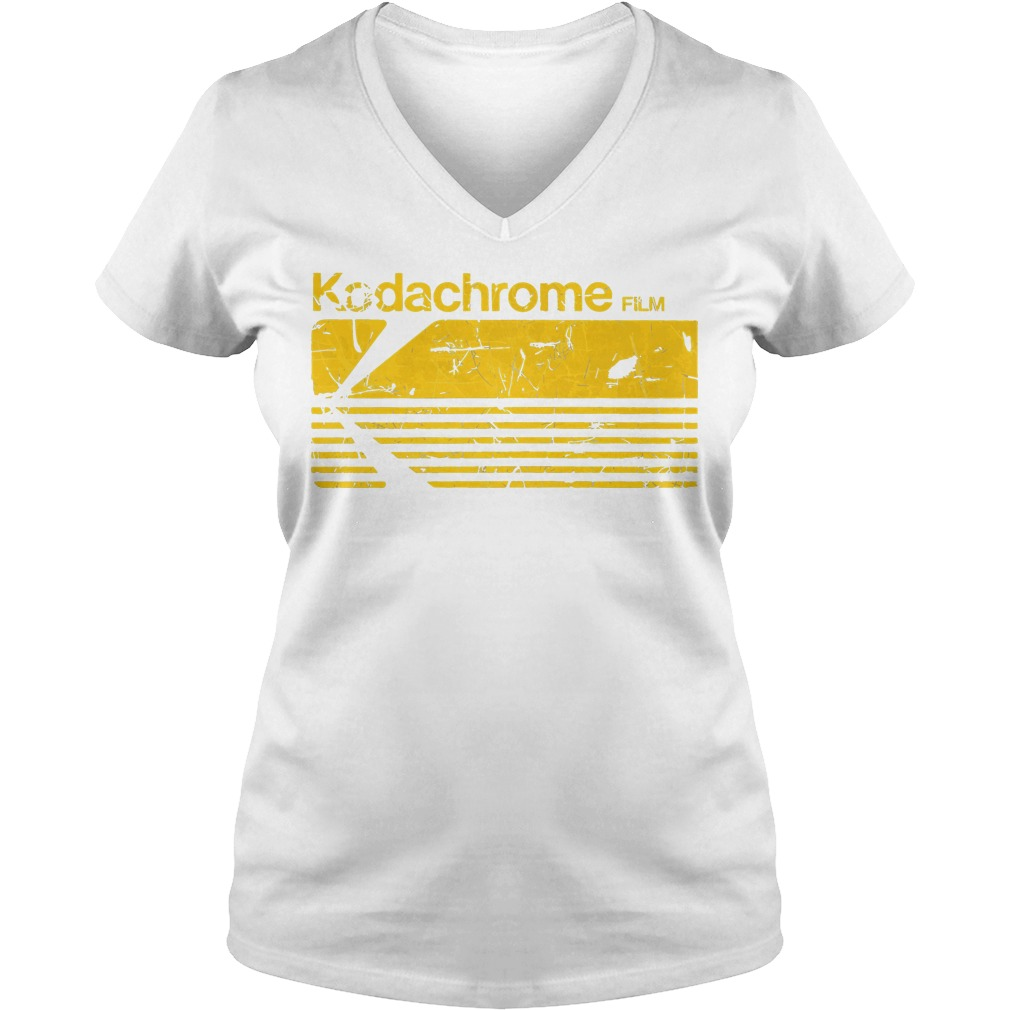 Kodak Kodachrome Film V Neck T Shirt