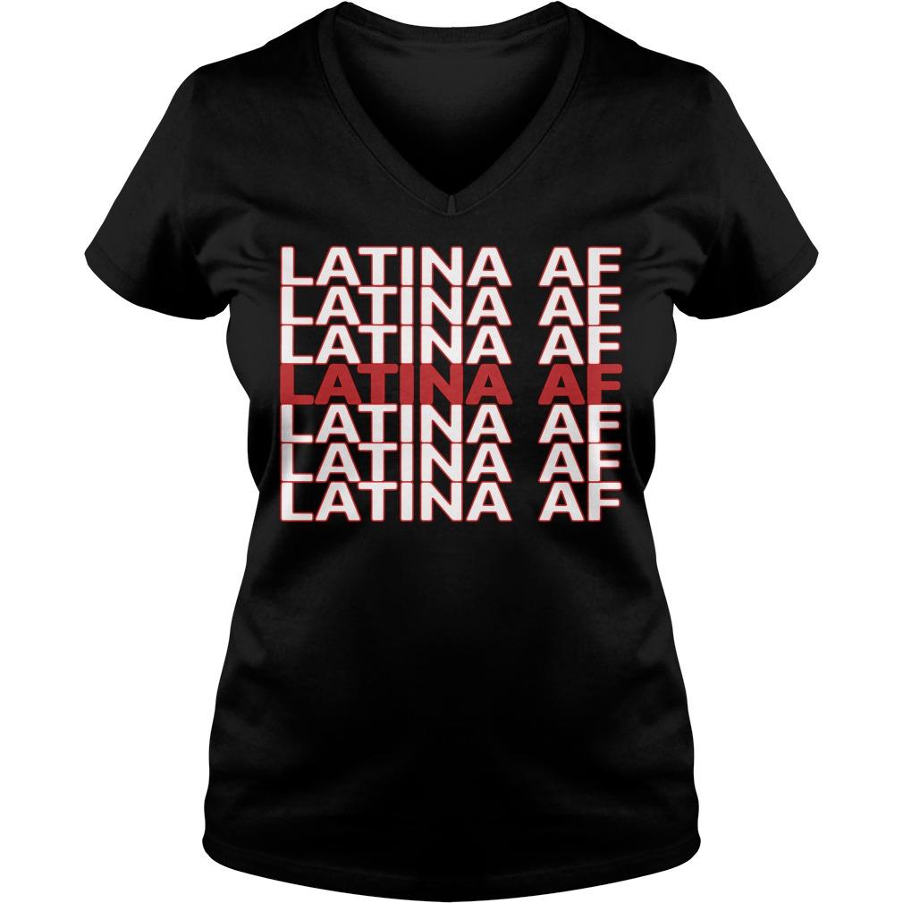 Latina Af V Neck T Shirt