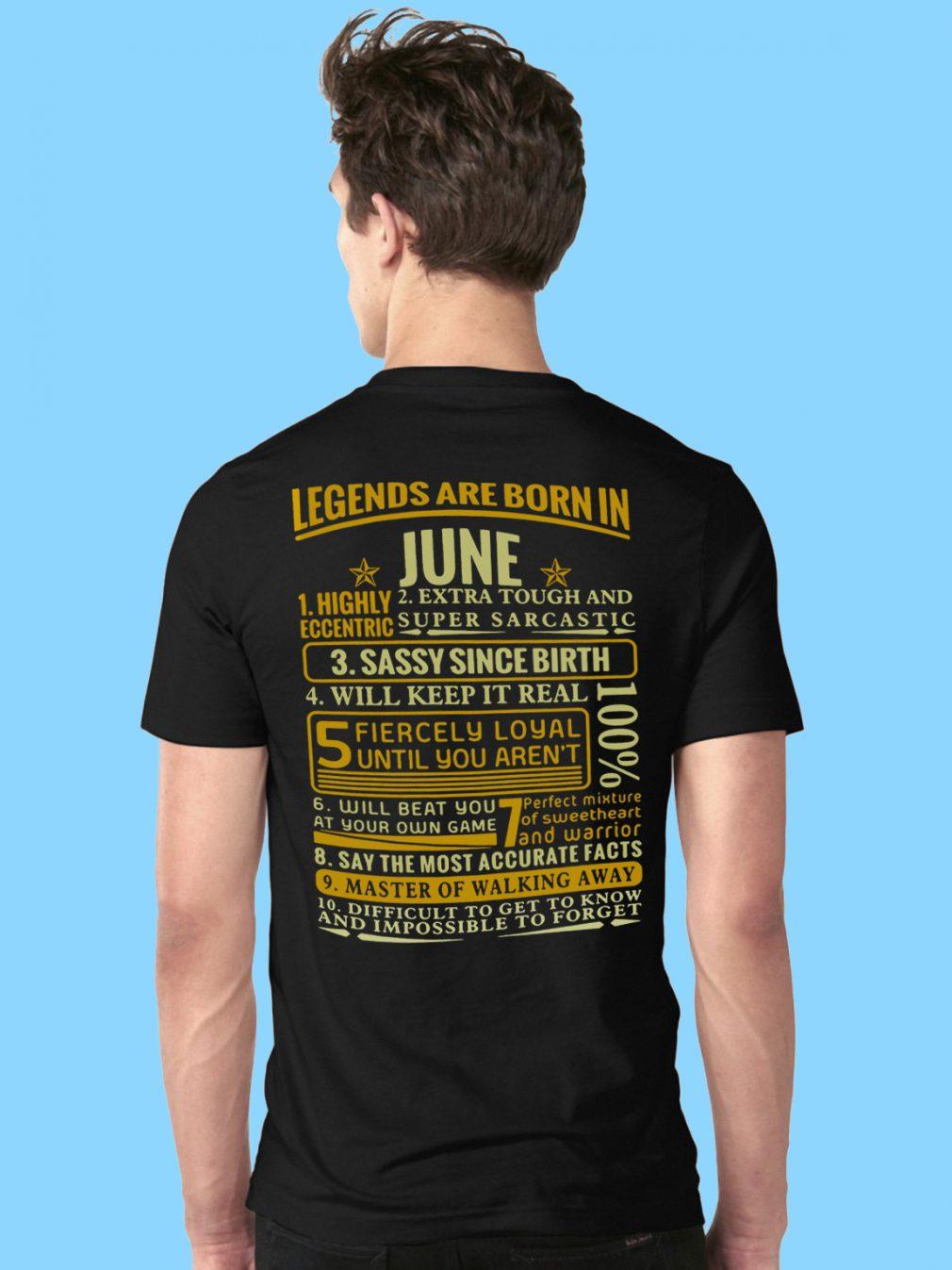 Legends Born June Shirt