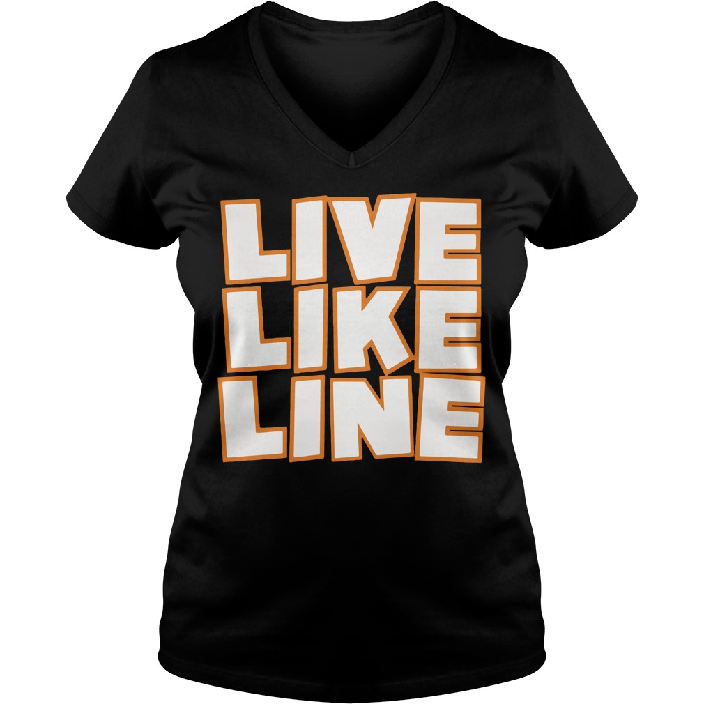 Live Like Line Volleyball V Neck T Shirt