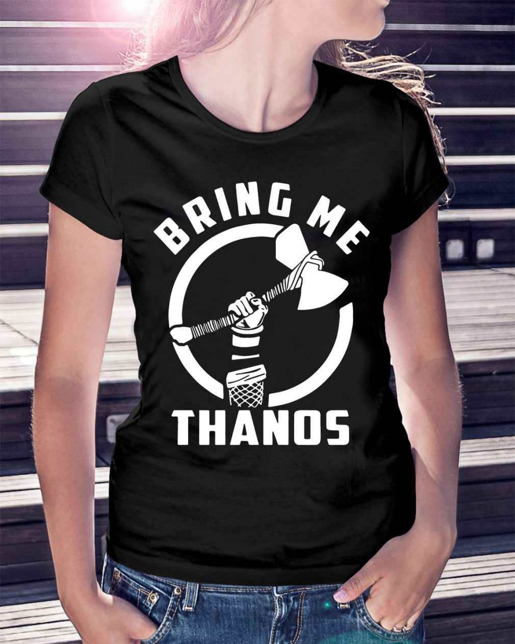 Marvel Infinity Wars Thor Bring Thanos Shirt