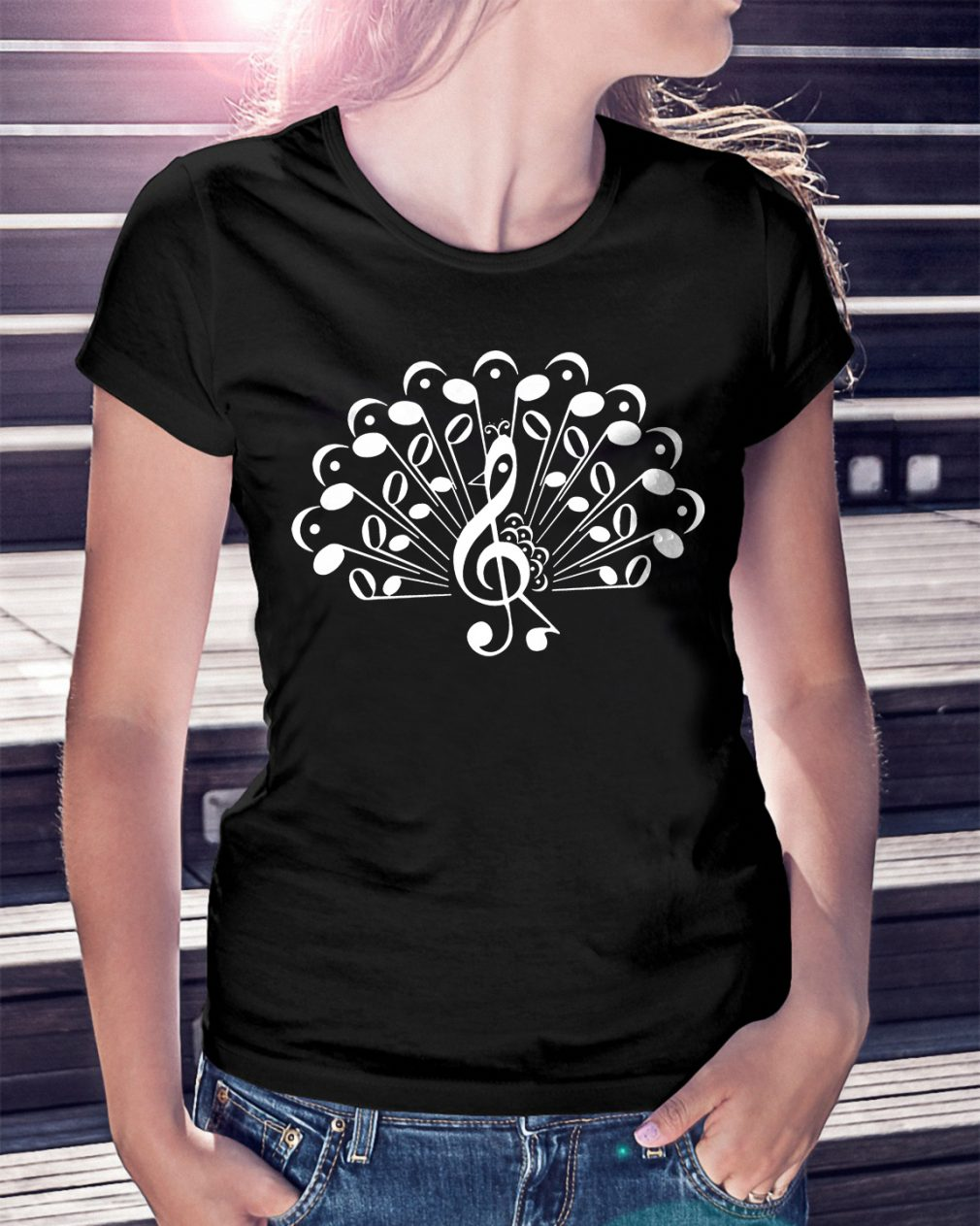 Music Note Peacock Magnet Shirt
