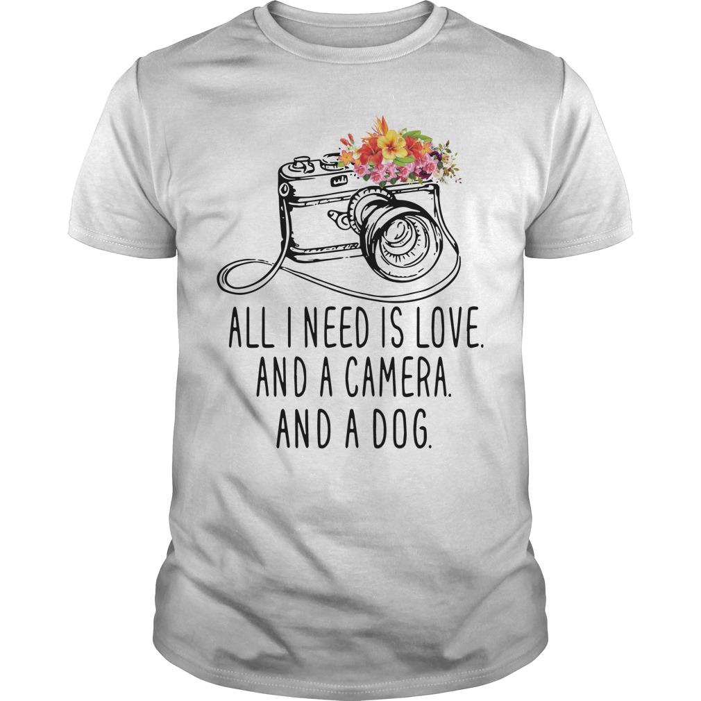 Need Love Camera Dog Guys Shirt