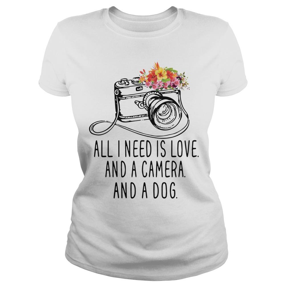 Need Love Camera Dog Ladies Tee