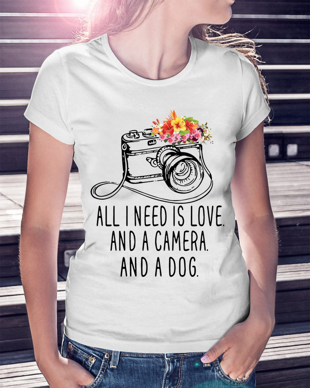 Need Love Camera Dog Shirt